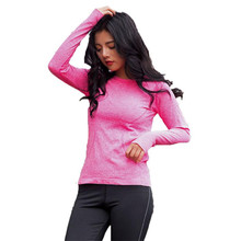 Women Long Sleeve Quick Dry Top Sleeve dry sets refe women's Summer women's t-shirt pullover shirt female T-shirt(China)