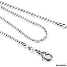 "C008 Cheap Hot 1MM Thin Top quality 925 Stamped Silver Plated Snake Chain Jewelry Findings 16""18""20""22""24""26""28""30""32""34""36""38"""