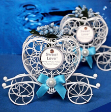 Free shipping 50 pcs/lot Carriage gift box, Iron box fairy tale theme,party favor box wedding candy box- B02