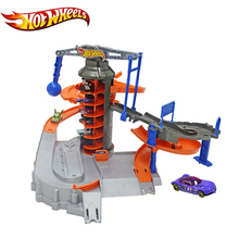 Genuine Hotwheels Sport Car Track Set Funny Electric Multifunctional Car Toy City Explorat Hot Wheels Track Toy Model DPD88(China)