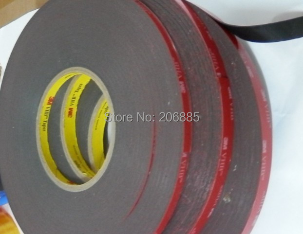 3M good 5952 VHB tape/ 3m doulbe VHB sided tape/ High sticky acrylic two sided foam tape/ 19mm*33m*5rolls we can offer any size<br>