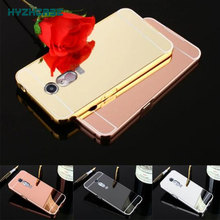 Fashion Luxury Rose Gold Silver Black Beauty Frame Mirror Case For ZTE a910 blade a 910 Back Shell Housing