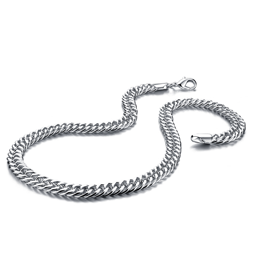fashion man dragon pendant sterling silver chain 100% solid 925 silver 10mm51cm man necklace curb chain.Wholesale silver jewelry