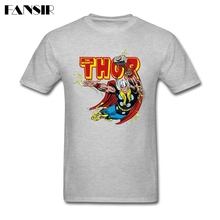 2017 New Summer Tshirts Male White Short Sleeve Custom Thunder Struck Thor Adult Clothes Tops Men Tshirts