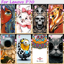 Hard Plastic&Soft TPU Silicones Phone Cover For Lenovo P70 P70A P70-A P70T P 70 Cases Cool Skull Loving Minions Hood