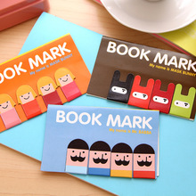 1 sets of 4 Cartoon Kawaii Stationery Boys and Girls Magnetic Bookmark Book Mark Clips for Office Teacher Gift School Supplies