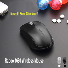 Rapoo 1680 Silent Click Noiseless 2.4G Wireless Mouse with invisible Optical for Mac PC Laptop Computer Mouse office game mice
