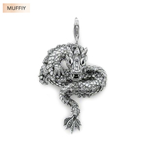 Large Dragon Pendant,Thomas Style Muffiy Rebel Good Jewerly For Men And Women,2017 Ts Gift In 925 Sterling Silver,Super Deals(China)