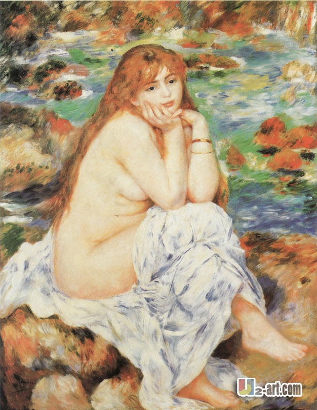 Lise with an Umbrella by Pierre-Auguste Renoir Giclee Fine ArtRepro on Canvas