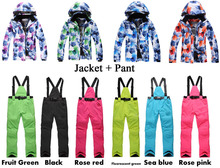 New Arrived Ski Suit Set Chinese Flower Colorful Ladies Snowboard Clothing Waterproof Cheap Snow Suit Outdoor sports Clothing