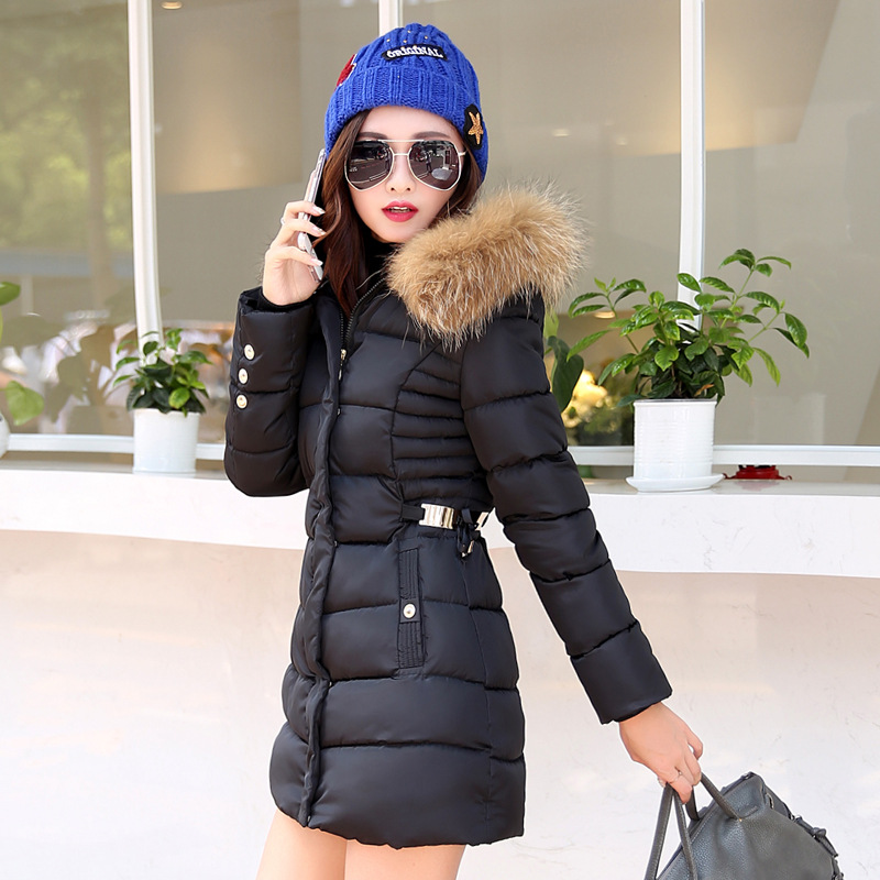 Leisure cotton-padded clothes down Long jacket coat Thickening Fashion Womens clothing 2016 Winter YRF161119Одежда и ак�е��уары<br><br><br>Aliexpress