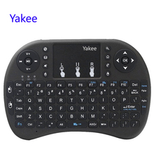 Yakee i8 Wireless Keyboard 2.4GHz English Russian letters Air Mouse Remote Control Touchpad For Android TV Box Notebook(China)