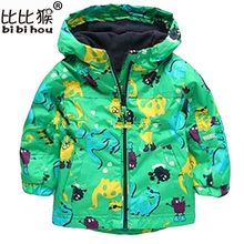 2017 New Children Outerwear Clothing Boys Girls Dinosaur Hoodie Rainsuit Rain Coat Baby Kids Child Sports Clothes Jackets Coats(China)