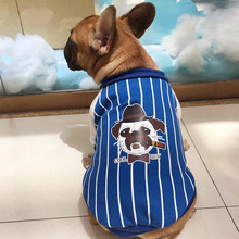 dog coat costume christmas winter warm Dog cat Cotton Polyester Clothes Sport Style cute stripe Apparel Cool Baseball Uniform(China)