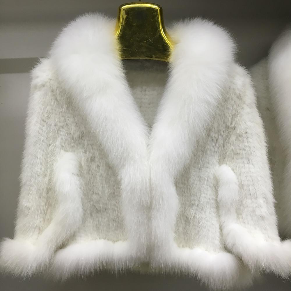 Luxury Mink Fur Shawl For Women Poncho Cape Knitted Genuine Fur Jacket Coat Female Winter Wraps Outerwear (2)