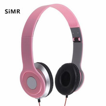 SiMR Wired Foldable Over-Ear Headphone Earphone Ear Pad For Sony MDR-V150 Pink Color