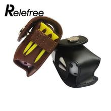 Mini Portable Leather Golf Ball Holder Pouch Bag Hold 2 Balls Golf Balls Putter Cover Golfer Aid Tool Golf Accessories(China)