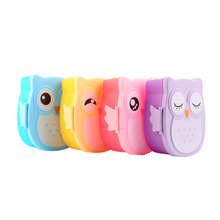 1050ml Cartoon Owl Cutlery Set Food Fruit Storage Container Portable Bento Box Food-safe  Picnic Container for Children Gifts
