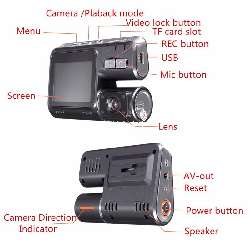 HD 1080P 2.0 Inch Car DVR Video Dash Camera Registrator With IR Night Vision DVR Video Recorder USB G-sensor 170 Degrees 6