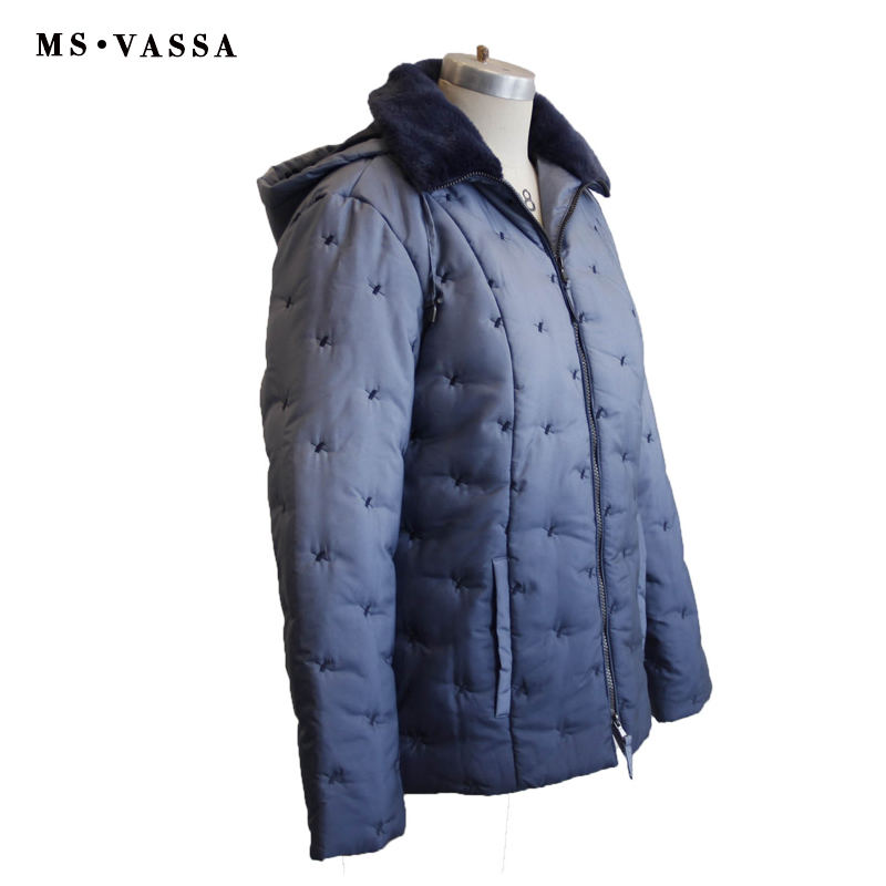 New Ladies jacket Spring & Winter Women fashion padded jacket plus size S-7XL dipdye optic faux collar cross quilting allover