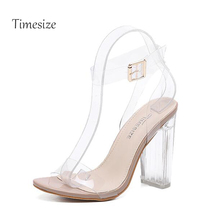 2017 PVC Jelly Sandals Crystal Leopard Open Toed High Heels Women Transparent Heel Sandals Slippers Discount Pumps 11CM