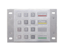 Kiosk metal 3DES Encrypted EPP keypad, Encryted Metal Keypad, Kiosk pin pad, parking system payment stainless steel keyboard