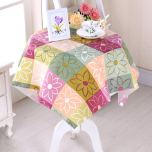 Waterproof cloth round table cloth thickening hotel hotel PVC round protection oil disposable plastic table cloth