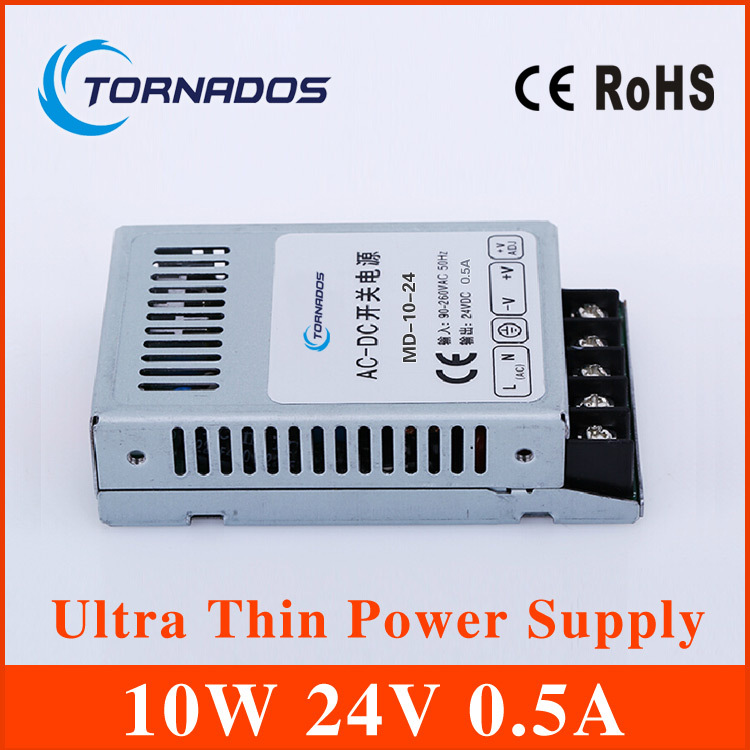 10W 24V Ultra thin Single DC Output Switching power supply for LED Strip light  power source MD-10-24<br><br>Aliexpress