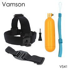 Buy Action Camera Accessories Helmet Belt Head Strap Floaty Bobber Gopro Hero 5 4 SJCAM Xiaomi Yi 2 4k EKEN VS41 for $6.09 in AliExpress store