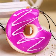 New Kawaii Donuts Soft Squishy Colorful Cell Phone Chain Cute Straps Stylish