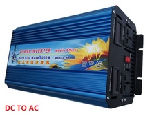6000W Peak Power 3000W DC12V to AC220V Pure Sine Wave Inverter free shipping SPSR express to Russia(China)