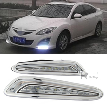 wholesale For Mazda 3 2010 - 2013 Driving DRL Daytime Running Light fog lamp Relay LED 12V Daylight car styling free shipping