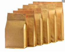 Kraft Paper bag Self Seal Zip Lock Packaging bag for tea,candy,red beans pouches Stand up paper bag print logo