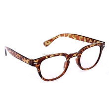 Retro Round Frame Rimed Reading Glasses Eyeglasses Leopard-print Black +1.0 +1.5 +2.0 +2.5 +3.0 +3.5 +4.0