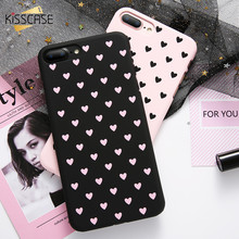 KISSCASE Fashion Phone Case For iPhone 7 7 Plus 8 8 Plus Case Hard Matte Chic Polka Dot Wave Point Case For iPhone X 5 6 6S Plus(China)
