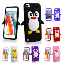 3D Cartoon Penguin Silicone Gel Shockproof Case Cover For Apple ipod touch 5 5th 5G / Touch 6 6th(China)