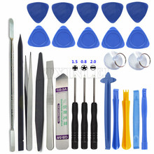 26 in 1 Mobile Phone Repair Tools Kit Spudger Pry Opening Tool Screwdriver Set for iPhone iPad Samsung Cell Phone Hand Tools Set(China)