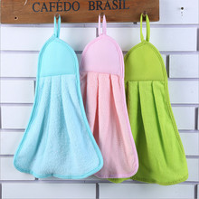 1PC New Hand Towel Coral Velvet 44*28cm Kitchen Bathroom Solid Candy Color Hand Towel Fast Dry -30