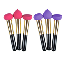 3pcs/lot Makeup Brushes Blender Foundation Powder Sponges Applicator Soft Brush Puff  Beauty Cosmetic Stage Makeup Tools