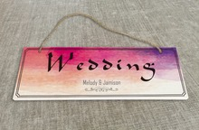 Personalized Outdoor Wedding Reception & Ceremony Decoration Directional Signs wedding sign board   SB015H