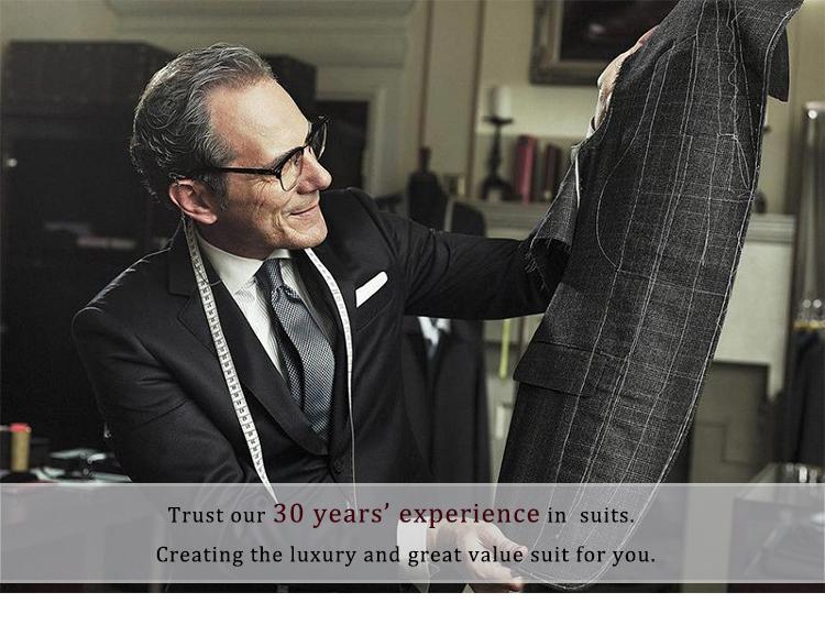 HTB1Tdo2RFXXXXb8XXXXq6xXFXXXX - 2017 Men Business Suit Slim fit Classic Male Suits Blazers Luxury Suit Men Two Buttons 2 Pieces(Suit jacket+pants)