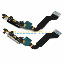 Black Or White USB Charger Connector Port Plug Flex Cable Repair For Iphone 4S 4 Power Flex Charging Dock Port Replacement Parts(China)