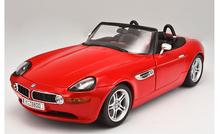 Bburago 1:18 Red convertible sports car model z8 The simulation model collection