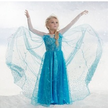 Special offer Christmas Girl dress Girl Clothes chiffon Princess Party Dresses 3-10Y  girls Clothing Cinderella elsa anna dress
