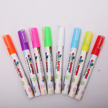 Color Erasable Chancery Whiteboard Markers Liquid Chalk Pens LED Board Highlighter Skin Painting Markers For The Board Pen(China)