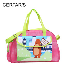 CERTAR'S Cute Animal Bear Messenger Bag Baby Nappy Bags Fashion High Quality Maternity Mummy Handbag Mother Diaper Shoulder Bag(China)