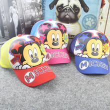 2016 New Brand children Summer Cartoon Cotton Baseball Cap Snapback Hats For Girls Boys Cute Mouse Hip Hop Kids Casquette Hats