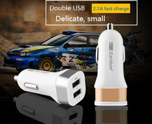 Earldom Car Use 2 Dual Use Cell Phone USB Charger 5V 2.1A Support Car Lighter For iPhone Samsung Smart Phone GPS Digital Device(China)