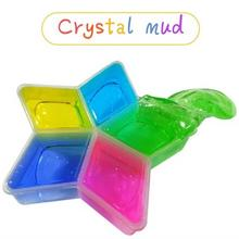 Plasticine 5 Pcs/lot Colorful Clay Slime DIY Non-toxic Crystal Mud Play Transparent Magic Plasticine Kid Toys drop shipping