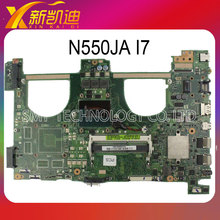 For ASUS N550JA N550JV Motherboard processor i7-4700HQ DDR3L 1600 MHz HD Integrated Graphics 4600 full Tested free shipping
